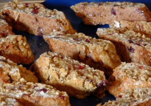 ginger pecranberry biscotti