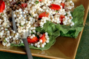 israeli couscous and french lentil salad