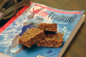 homemade energy bars III: peanut ginger squares