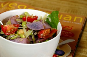 purple protein salad