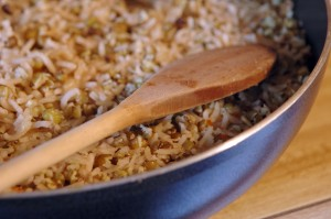spiced bangladeshi mung beans and rice