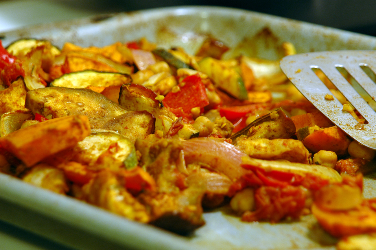 moroccan roasted vegetables | The Hippie Triathlete
