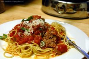 spaghetti con bufalo