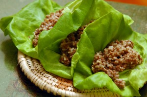 empire brewery's indonesian lettuce wraps