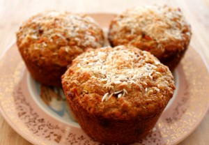 muffin mondays: emily's spiced carrot-date muffins with cashews