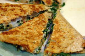 potato-kale quesadillas