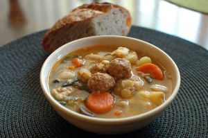 galician white bean soup with chorizo