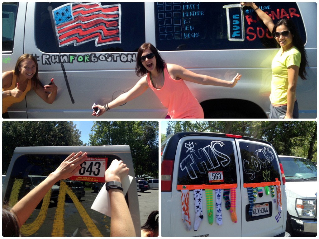 Vehicle decoration at its finest. 1-Van #1; 2-Even the vans get race numbers 3-One of many creative themes.