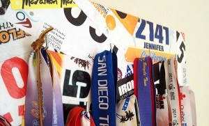 DIY finisher's medal display