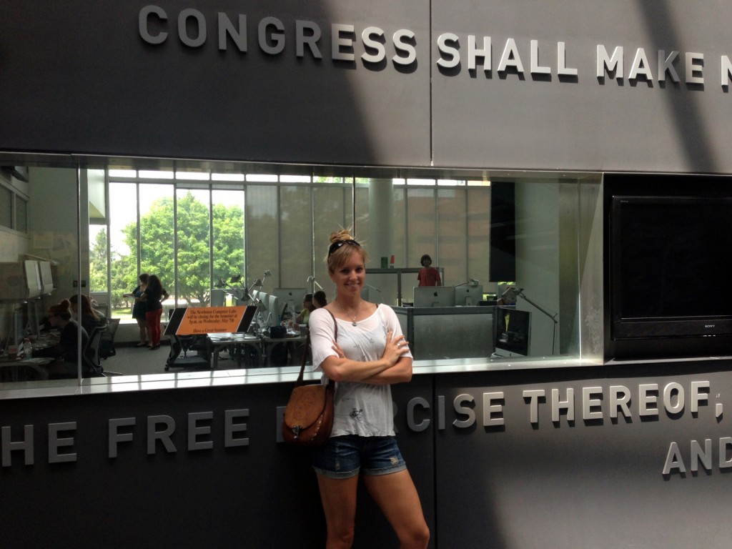 Where I spent MANY hours: The S.I. Newhouse School of Public Communications.