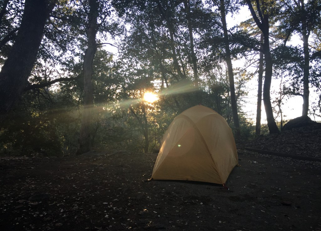 Little tent, big world. (Nov. 22-23 camping and hiking trip. William Heise County Park, Julian)