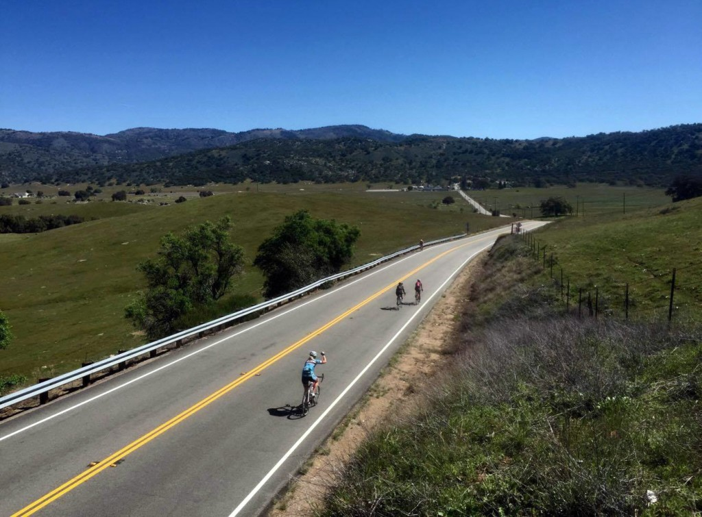 Me giving a fist-pump on the descent to Santa Ysabel. (Photo by Topher Riley.)