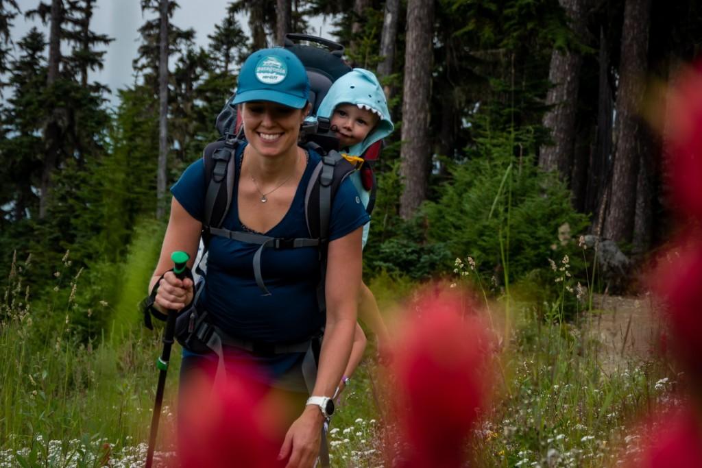 One of many summer treks up Big Burn on Blackcomb mountain.