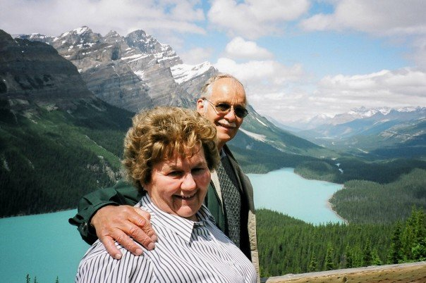 A picture I took of my grandparents in the Rocky Mountains in 2003, when I was living and working there for the summer and they came to visit me.
