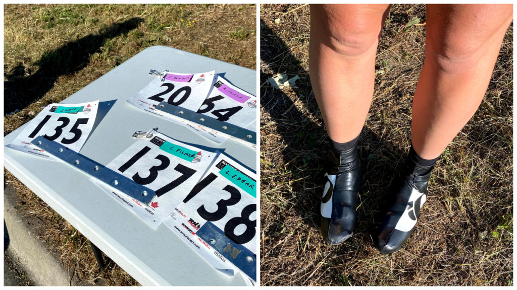 Bib numbers and booties!